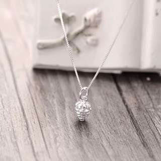925 silver pine charm necklace
