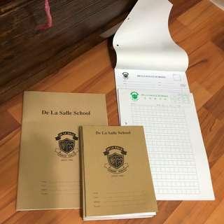 De la Salle exercise books