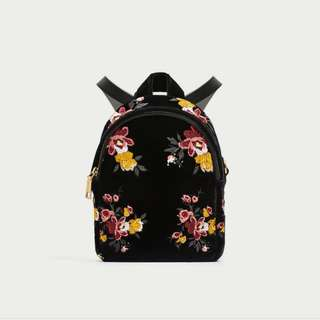 Promo tas zara backpack bordir original
