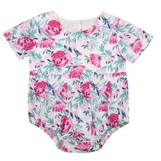 🐰Instock - vintage floral romper, baby infant toddler girl children glad cute 123456789 lalalala