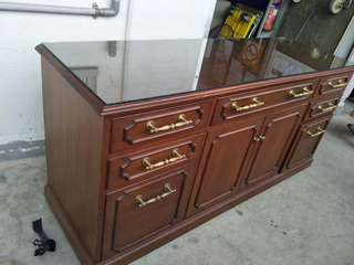 Classic and antique long wooden chest of drawers @ $200