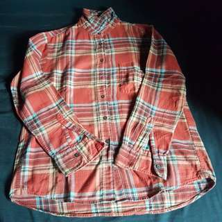 Uniqlo Flannel Check Long Sleeve