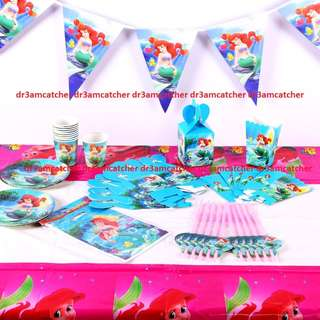 Ariel party set for 10 (ready stock)
