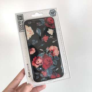 玫瑰花玻璃鋼電話殼 Rose Glass phone case (iphone 6S plus)
