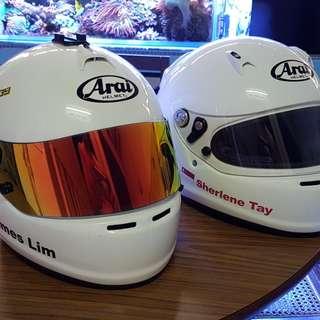 Arai GP6S and SK6 car kart racing helmets