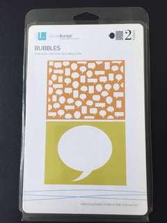Lifestyle Crafts/Quickutz Bubbles Embossing Folders (2 Pcs)