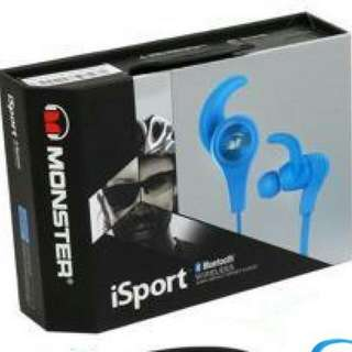 Monster iSport Bluetooth Wireless In Ear Monster 藍芽耳機