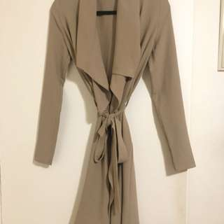 M Boutique Chiffon Wrap Coat