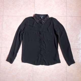 Forever21 Black Shirt chiffon