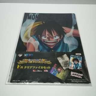 One Piece - Monkey D. Luffy & Tony Tony Chopper Clear File Set
