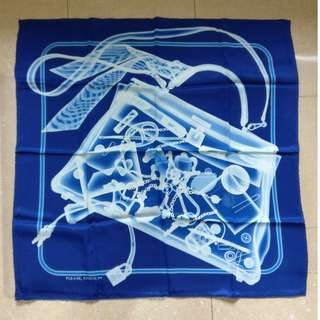 100%real 全新 Hermes Travel w Birkin Bag Silk Scarf 絲巾 圍巾 頸巾