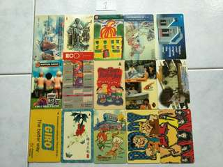 Assorted old phonecard