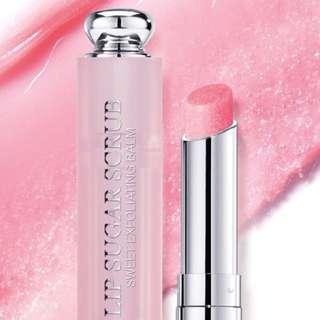 【MissBerry機場代購】Dior迪奧 蜜糖磨砂潤唇膏 (3.5g) 潤唇+去角質 Lip Sugar Scrub #001僅一色號 現貨
