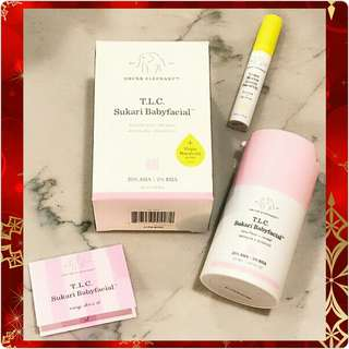Drunk Elephant TLC Sukari Babyfacial + Virgin Marula Luxury Facial Oil