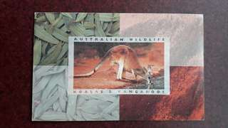 Australia Wildlife Stamp -- Koalas & Kangaroos