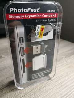 BNIB PhotoFast Memory Expansion Combo Kit (CR-8700)