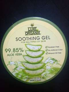 Luxe organix soothing aloe gel