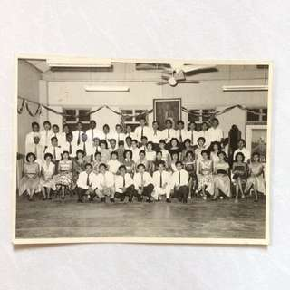 Vintage Old Photo - Old Black & White Photograph taken in Year 1958 during a school function in Malaya (16.5 by 12 cm)