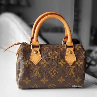 Authentic Louis Vuitton Monogram Speedy Mini HL