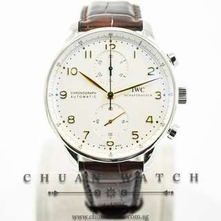 Pre-Owned IWC Portuguese Chronograph Automatic 41mm IW371445