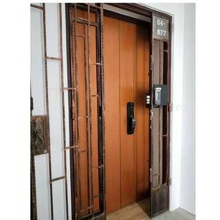 Epic metallic push pull with Gateman z10 fingerprint gate lock at $1299