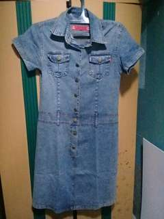 Denim slim dress