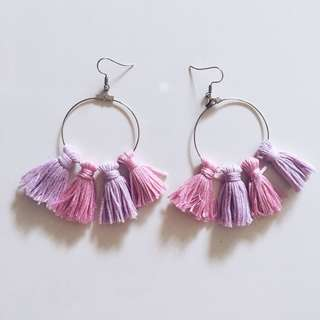 Pony Colour Theme Tassels Earrings