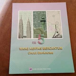 RM5 Uncut Banknotes