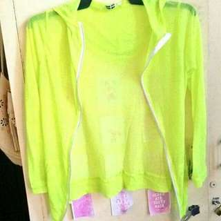 Neon see through jacket
