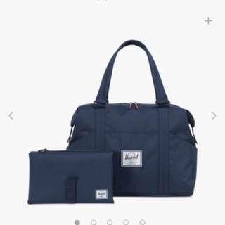 BN Herschel Diaper Bag Strand Sprout Duffle Navy