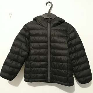 Uniqlo Kids Black Unisex Puffer Jacket - Lightweight