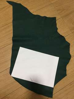 Leather cow hide dark green