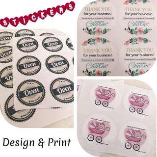 Sticker Design & Print