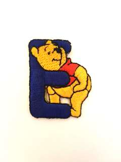 "Iron On Patch/ Applique ↪ Alphabet Pooh ""E"" 💱 $2.00 Each Alphabet"
