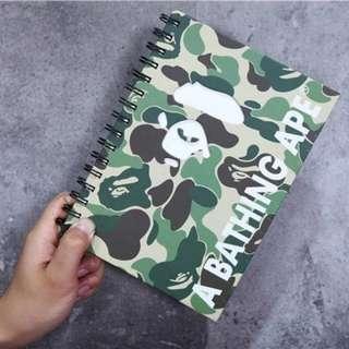 bape note book