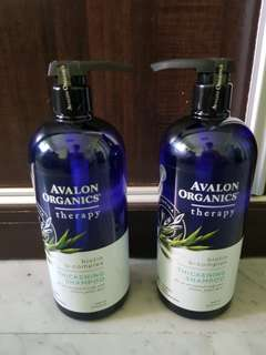 Avalon organics therapy thickening shampoo