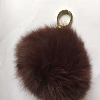 Bag charm - real fur ball