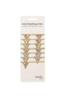 Mini bunting trims