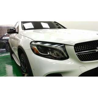 【騰信車體包膜】M-Benz GLC大燈美國犀牛皮保護膜包膜