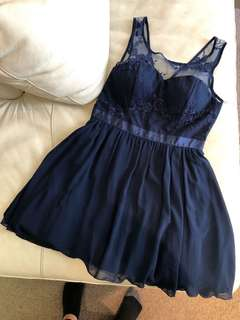Dress Blue Lace