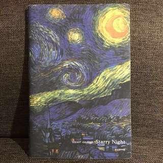 梵高星夜 Starry Night A5 筆記簿日記簿記事簿