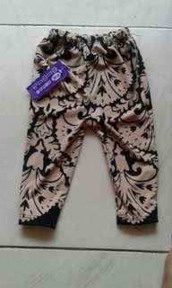 legging bayi 0-6bulan motif batik