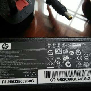 Laptop power adaptor (Hp)