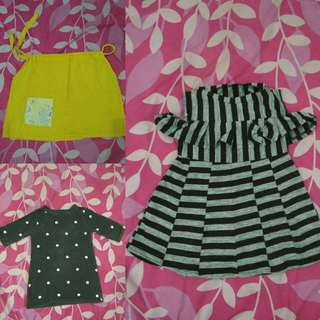 Dress bayi2pcs+1atasan sz 6-12m