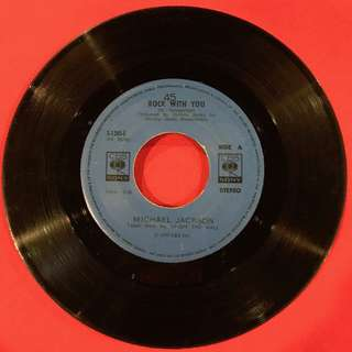 Rock with you/She's Out of My Life-  Michael Jackson 45 rpm vintage