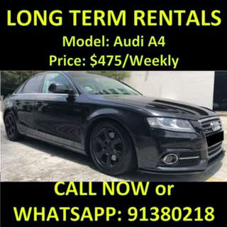 Audi A4 1.8A Long Term Car Rental