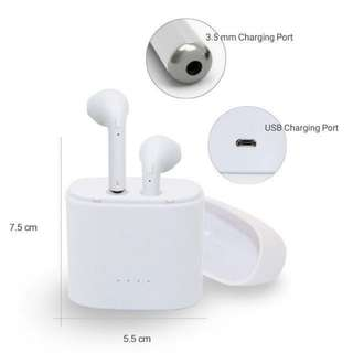 FLASH DEAL 🎉HBQ I7S TWS Twins Mini Earbud  With Mic and Charging Seat Stereo Bluetooth 4.2