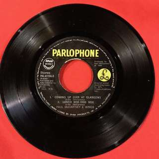 Coming Up - Paul McCartney vintage 45 rpm