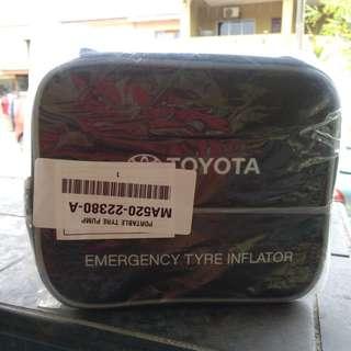 Toyota emergency tyre inflator pump