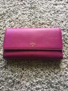 Women's Fossil Sydney Leather Flap Wallet